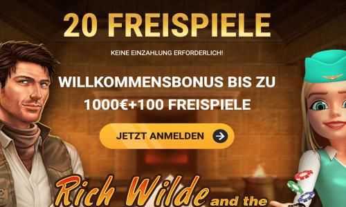 bis zu 1000€ Bonus & 100 Freispiele