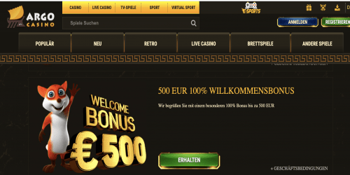 willkommensbonus argo - casinoorbit.com